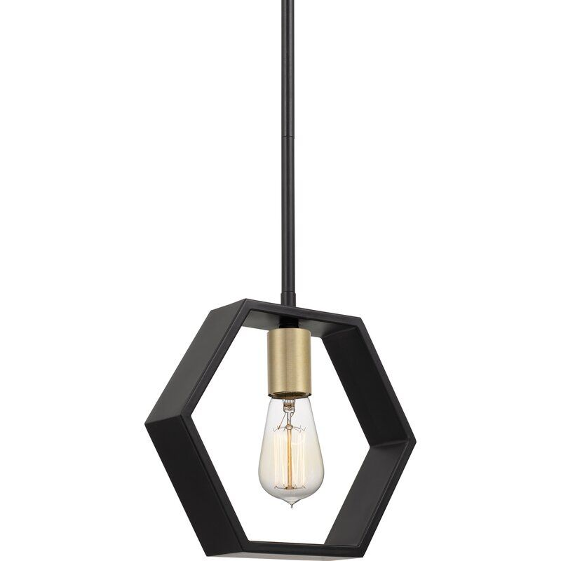 Wrought Studio Themis 1 Light Single Geometric Pendant Reviews Wayfair Pendant Light Pendant Lighting Light