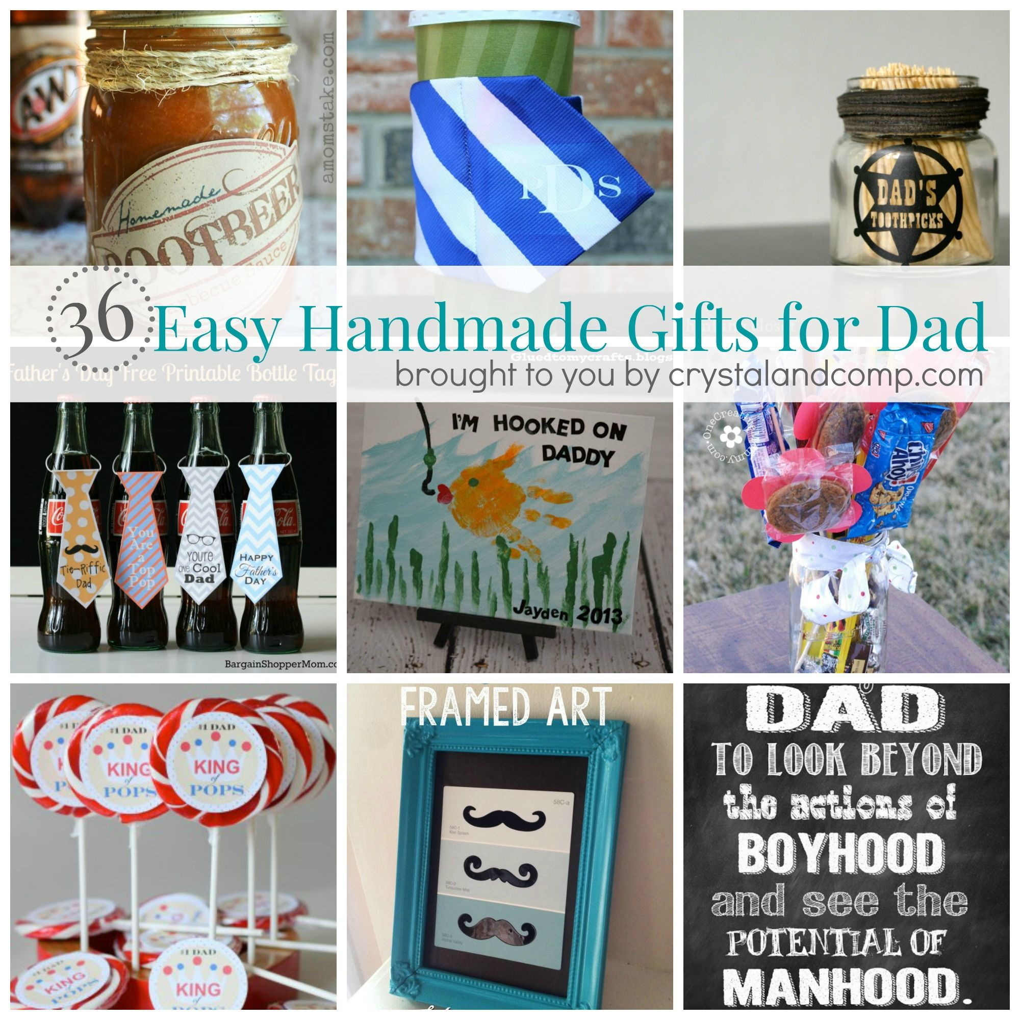 Awesome homemade Father s Day ts for dad that the kids can make