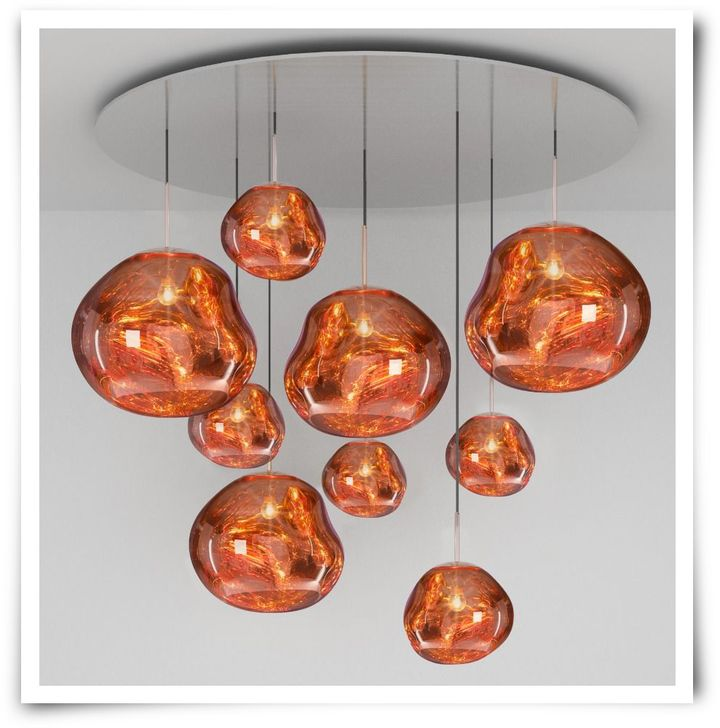 Tom dixon melt mega pendant system copper home decor contemporary tom dixon melt mega pendant system copper aloadofball Image collections