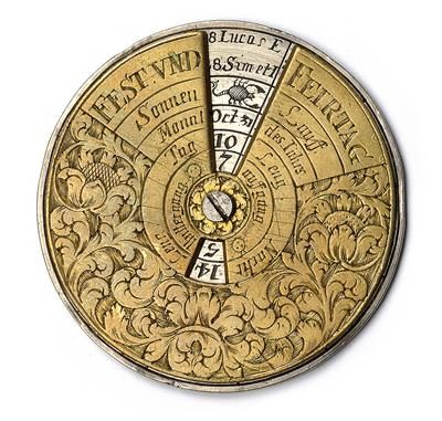 A late 17th century perpetual Calendar kalendar Pinterest - how to make a perpetual calendar