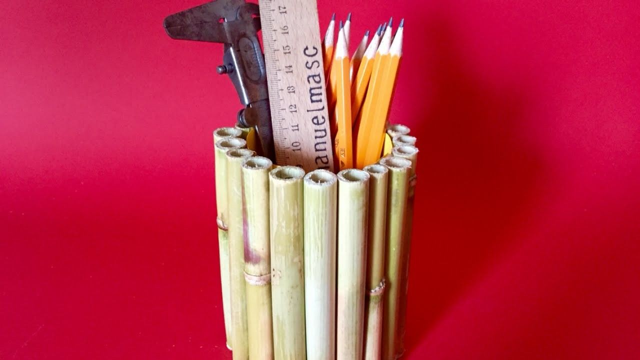 Make A Stylish Free Bamboo Pen Holder Diy Crafts Guidecentral
