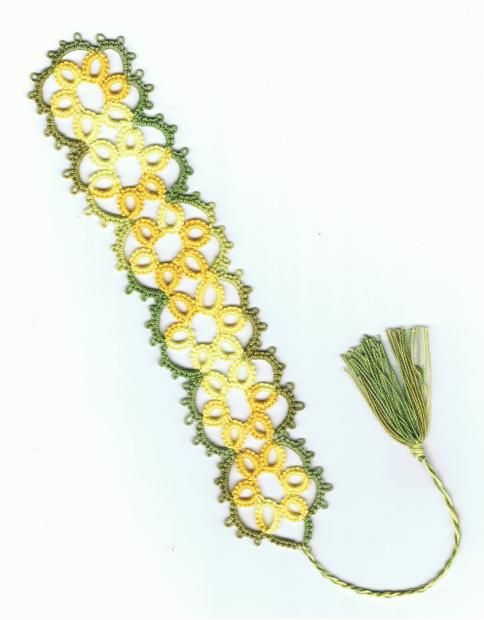 Rachael Flower tatted Bookmark by sarahwood8