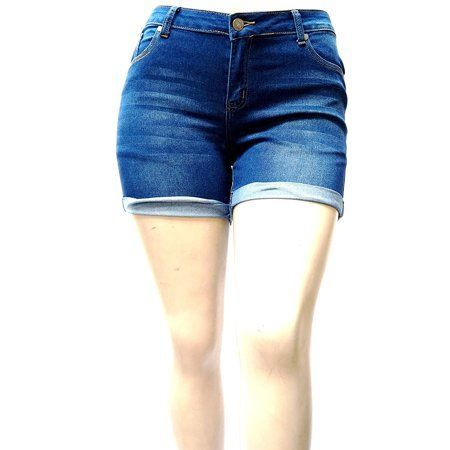 1826 Jeans Womens Plus Size Cuff Rolled Capri Bermuda Short Curvy Denim Jean 27… – Summer Outfits
