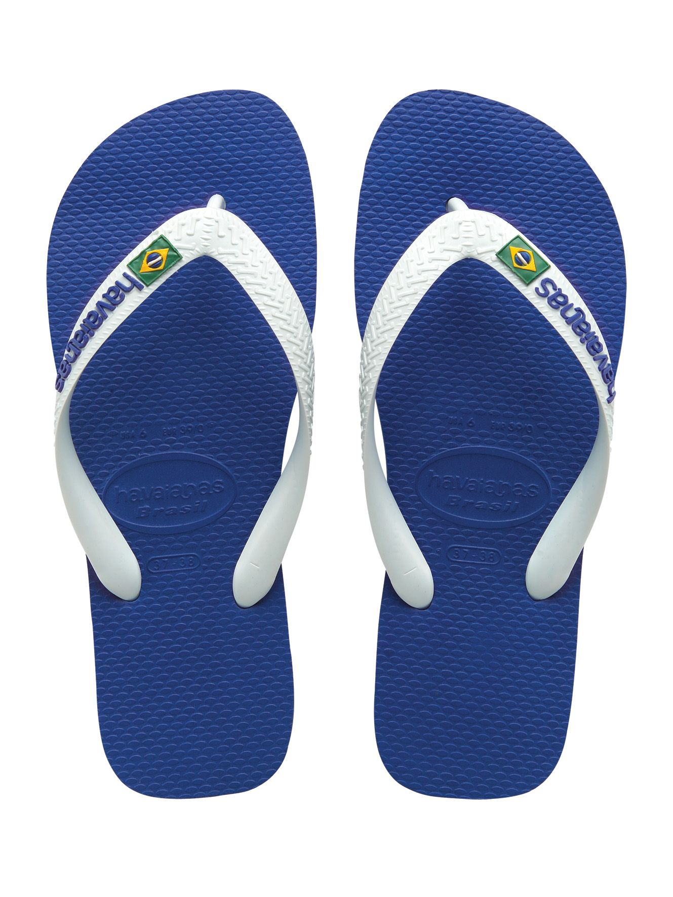 283de929a2b2 ... sandals and graphic motivational fitness clothing. Havaianas Brasil  Logo Blue