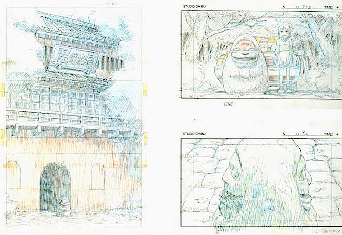 Film Spirited Away 千と千尋の神隠し Layout Design Scene The Abandoned Theme Park Hayao Miyazaki 作画 宮崎駿 ジブリ