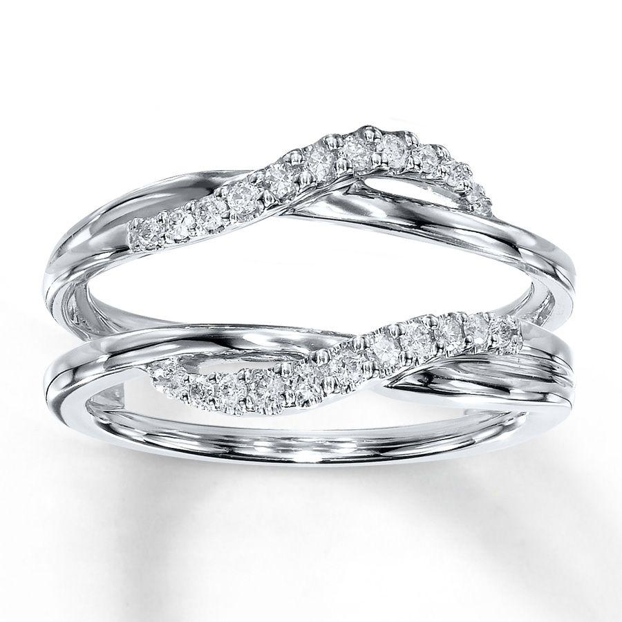 kay diamond enhancer ring 15 ct tw round cut 14k white gold - Wedding Ring Enhancers