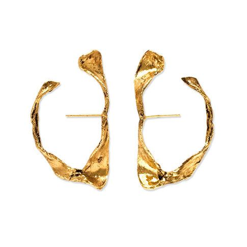 Shop modern shark jaw hoop earrings by independent jewelry designer