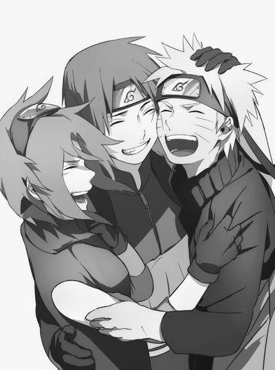 This picture of Sakura, Sasuke, and Naruto makes me happy. Team 7 forever. <3