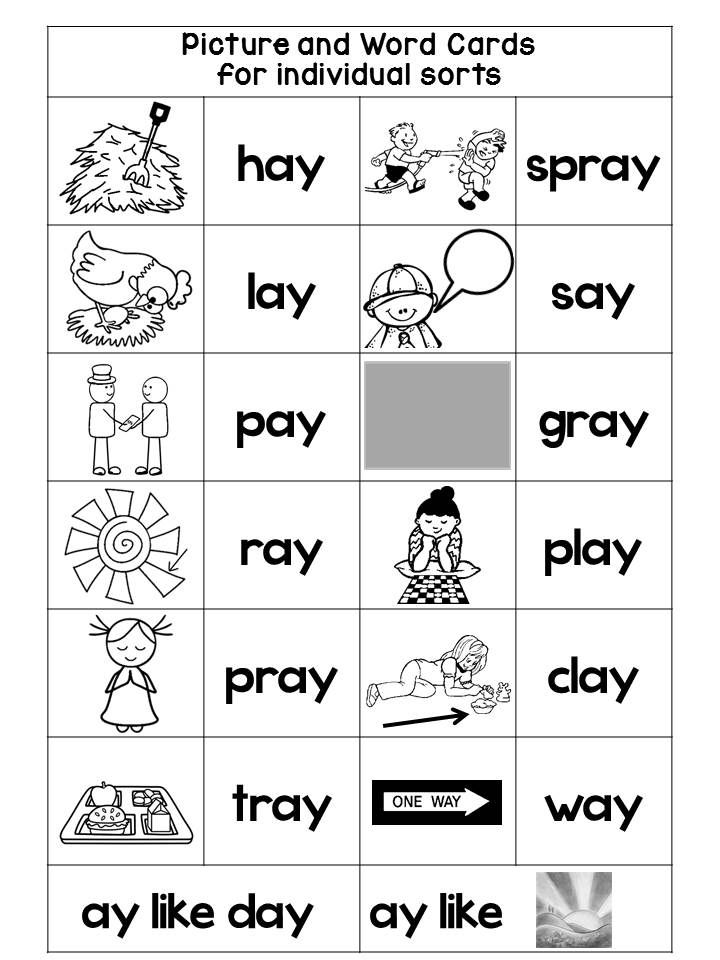 Vowel TEAM AI and AY: Phonics with WORD SORTS, NURSERY RHYMES, and ...