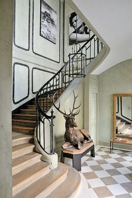 Christian Liaigre, design. His new home in Paris. Superb style.