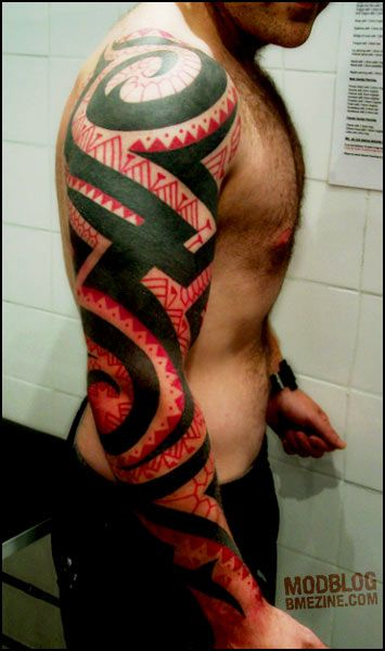 Red And Black Tribal Tattoos Google Search Tattoos Pinterest