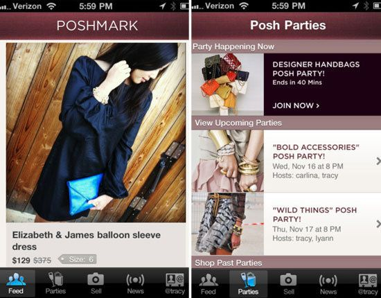 #Poshmark — sell clothes straight from your closet to other fashion fiends on this iPhone app