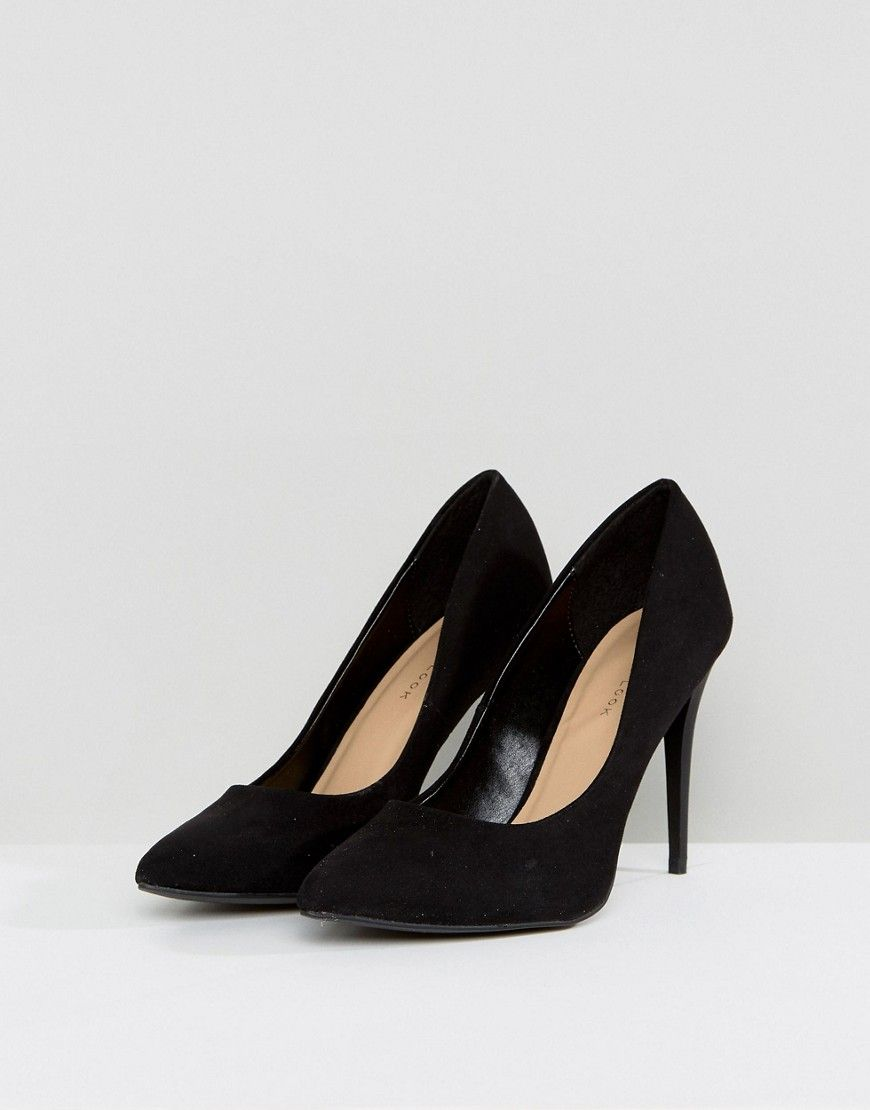 fb6585835c6 New Look High Heel Suedette Court Shoe | Products | Shoes, Heels ...