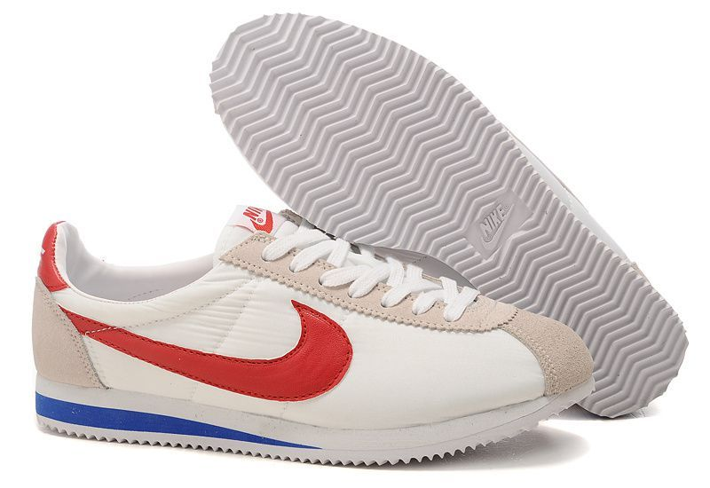 online store 5b880 cce18 nike classic cortez office nike classic cortez ultra blanche et rouge et  bleu femme