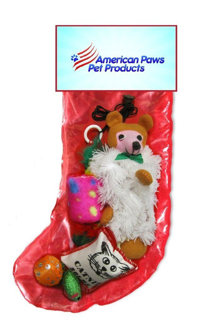 Christmas Cat Toy Holiday Gift Stocking Set ** Check out this great