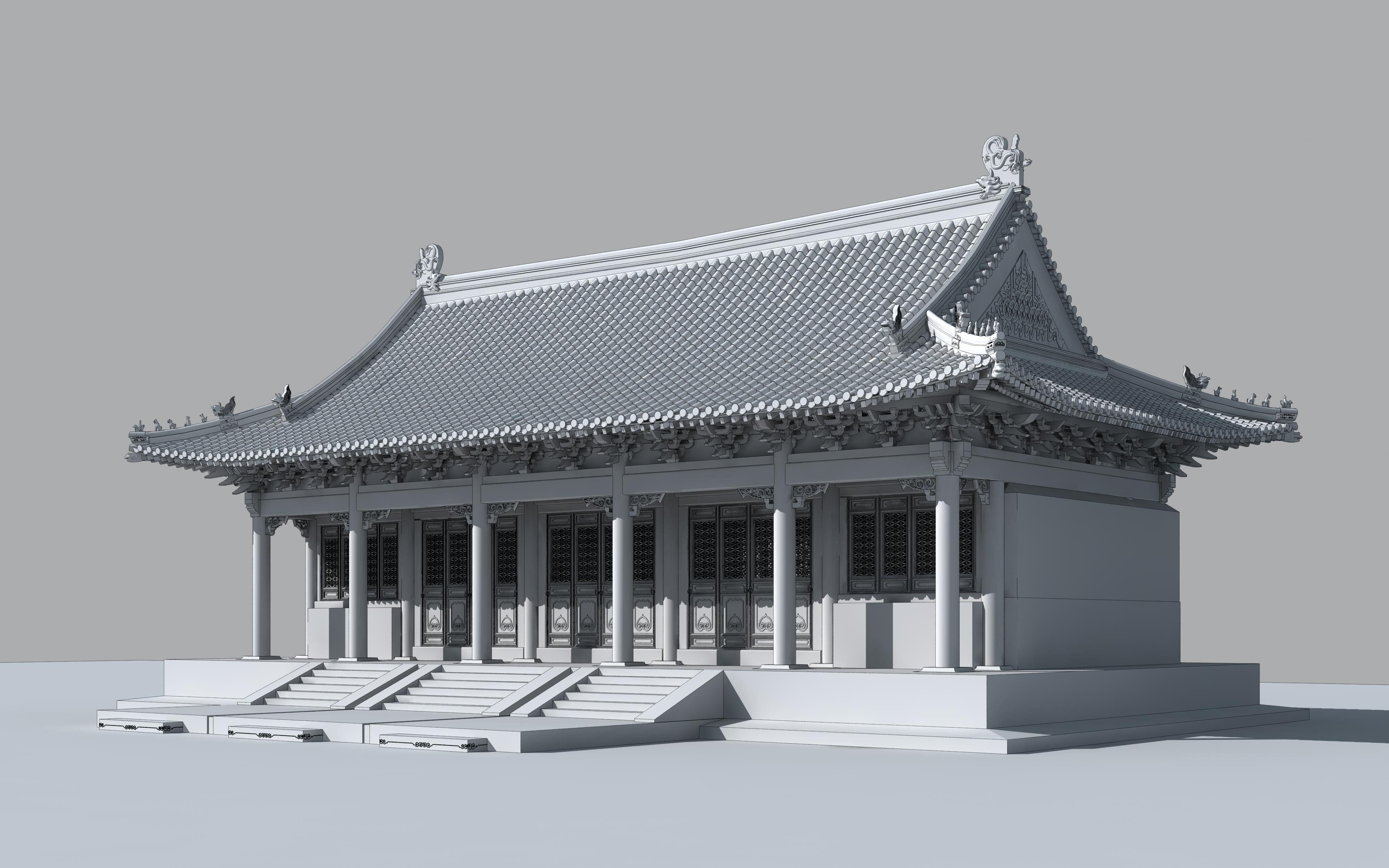 3d model confucius temple Asie Asia