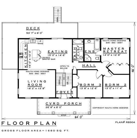 Raised Bungalow House Plan # RB304 - House Plans, Floor ... on luxury custom home plans, small ranch home plans, raised kitchen, raised creole cottage, allison ramsey cottage plans, raised ranch, elevated home floor plans, home addition floor plans, raised signs, raised floor, raised hunting, raised glass, raised wallpaper, raised pedestrian crossing, raised gardening, cabin cottage plans, raised architecture, raised garage, creole cottage home plans, raised garden,