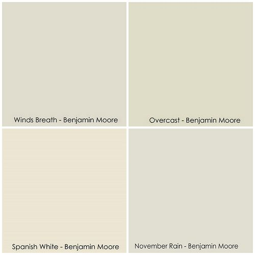 Benjamin Moore Winds Breath Overcast Spanish White November Rain