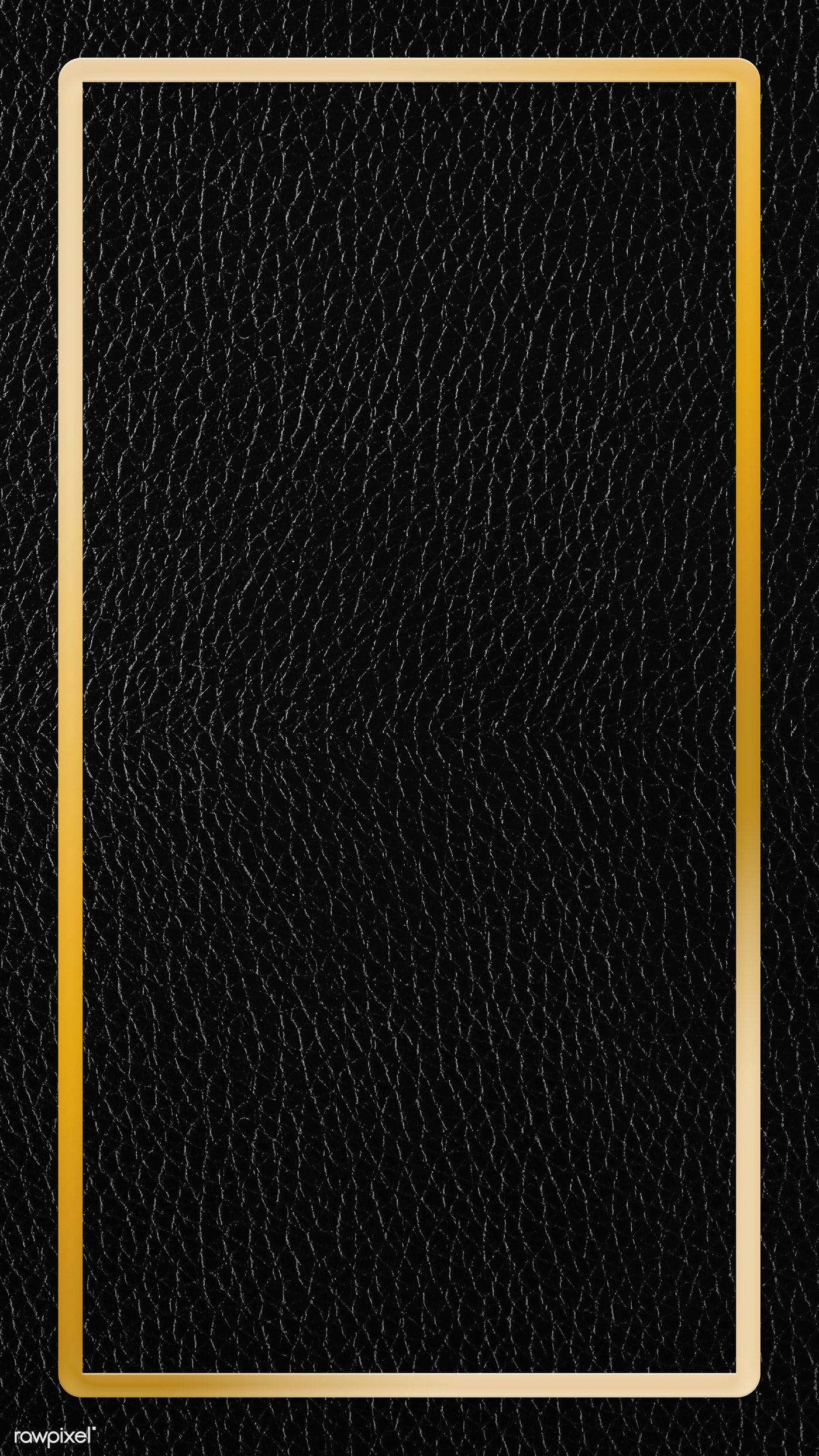 Gold Frame On Black Leather Background Vector Premium Image By Rawpixel Com Kati Gold And Black Wallpaper Gold And Black Background Black Background Design