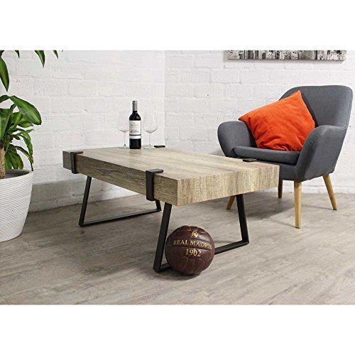 Couchtisch Bordeaux \u2013 Holz fineer Tischplatte und schwarz Metall