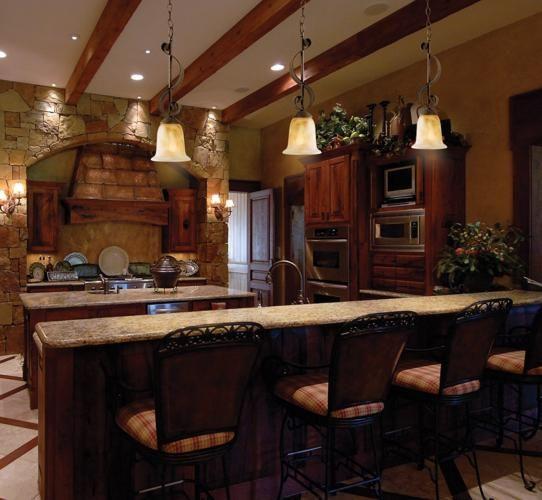 Rustic Elegant Kitchen: Love That It's Rustic, Yet Elegant- Rustic Lodge Kitchen