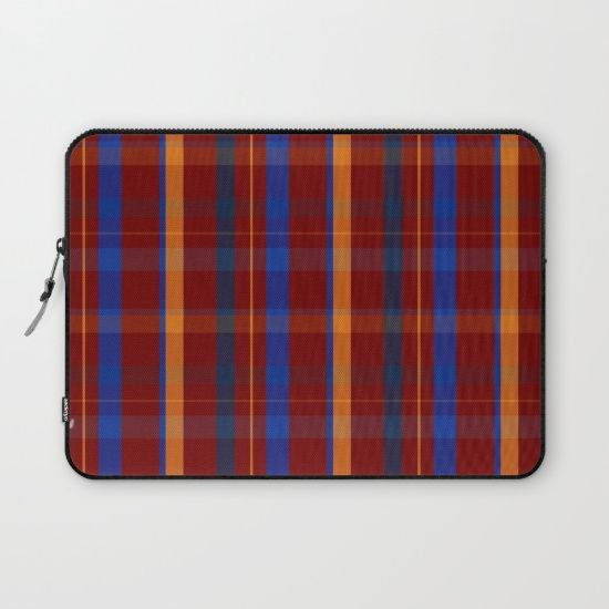 Red Plaid Laptop Sleeve by scardesign11 #laptopsleeve #laptop #case #society6 #design #gifts #designgifts #giftsforhim #giftsforteens #gifts #plaid #plaidgifts