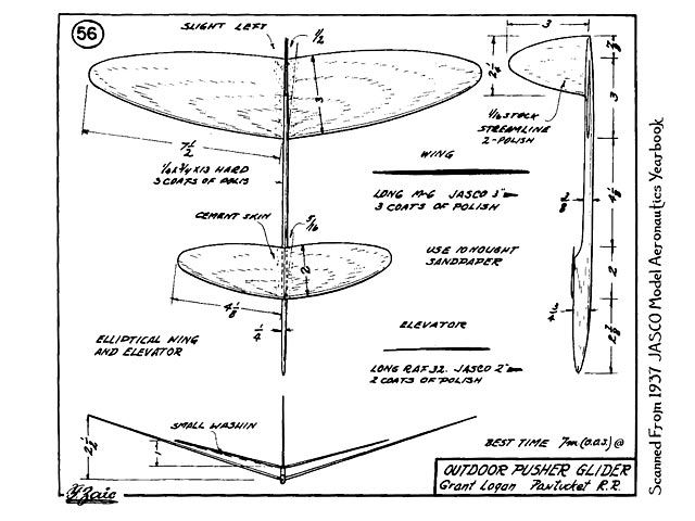 Outdoor Pusher Glider Plan Thumbnail Model Airplane Pinterest