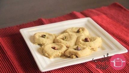 الغريبة الكويتية بالفستق الحلبي Recipe Arabic Sweets Cooking Recipes Arabic Food
