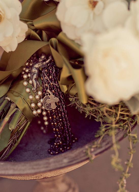 Rosary Bouquet Tuscan style, Wedding flowers, Wedding