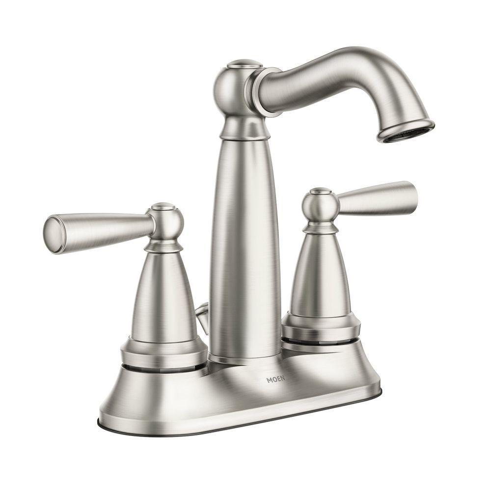 Moen Vale 4 In Centerset 2 Handle Bathroom Faucet Featuring
