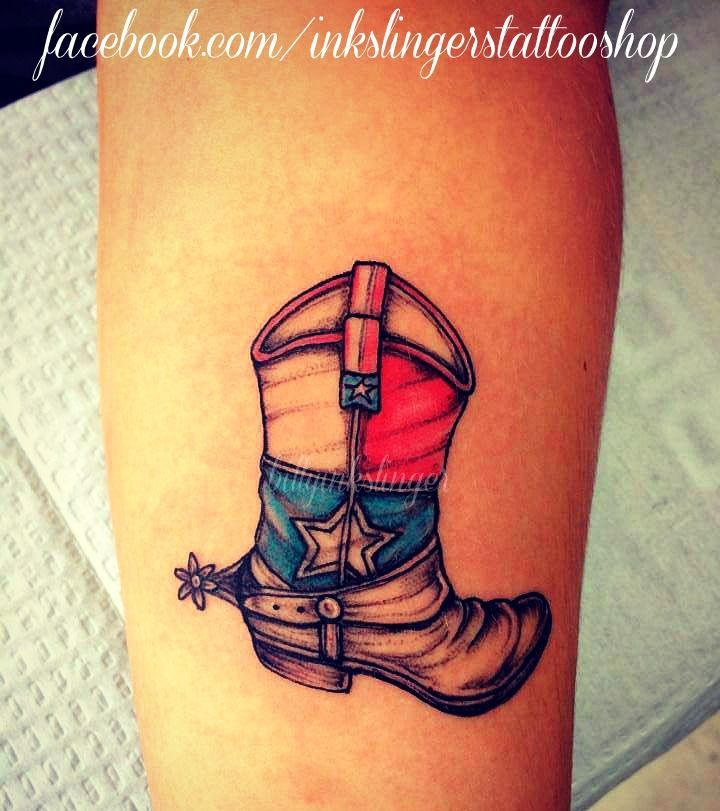 cowboy boot tattoo billyinkslinger tattoos pinterest cowboy rh pinterest com boat tattoos for women book tattoos for women