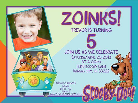 printable boy/girl birthday invitations, scooby doo | jaysson, Birthday invitations
