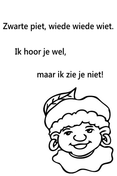 Quatang Gallery- Poster Sinterklaas Kapoentje Verkrijgbaar In Formaat A4 A5 En A6 Sinterklaas Zwarte Piet Poster