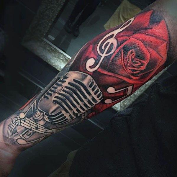 Microphone Tattoo Drawings