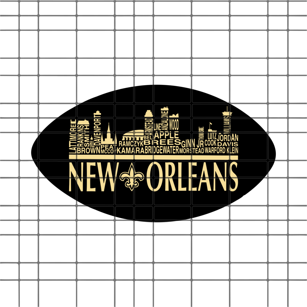 New Orleans Skyline Pro Football Names Svg Dxf Eps Png Instant Download Football Names New Orleans Skyline New Orleans
