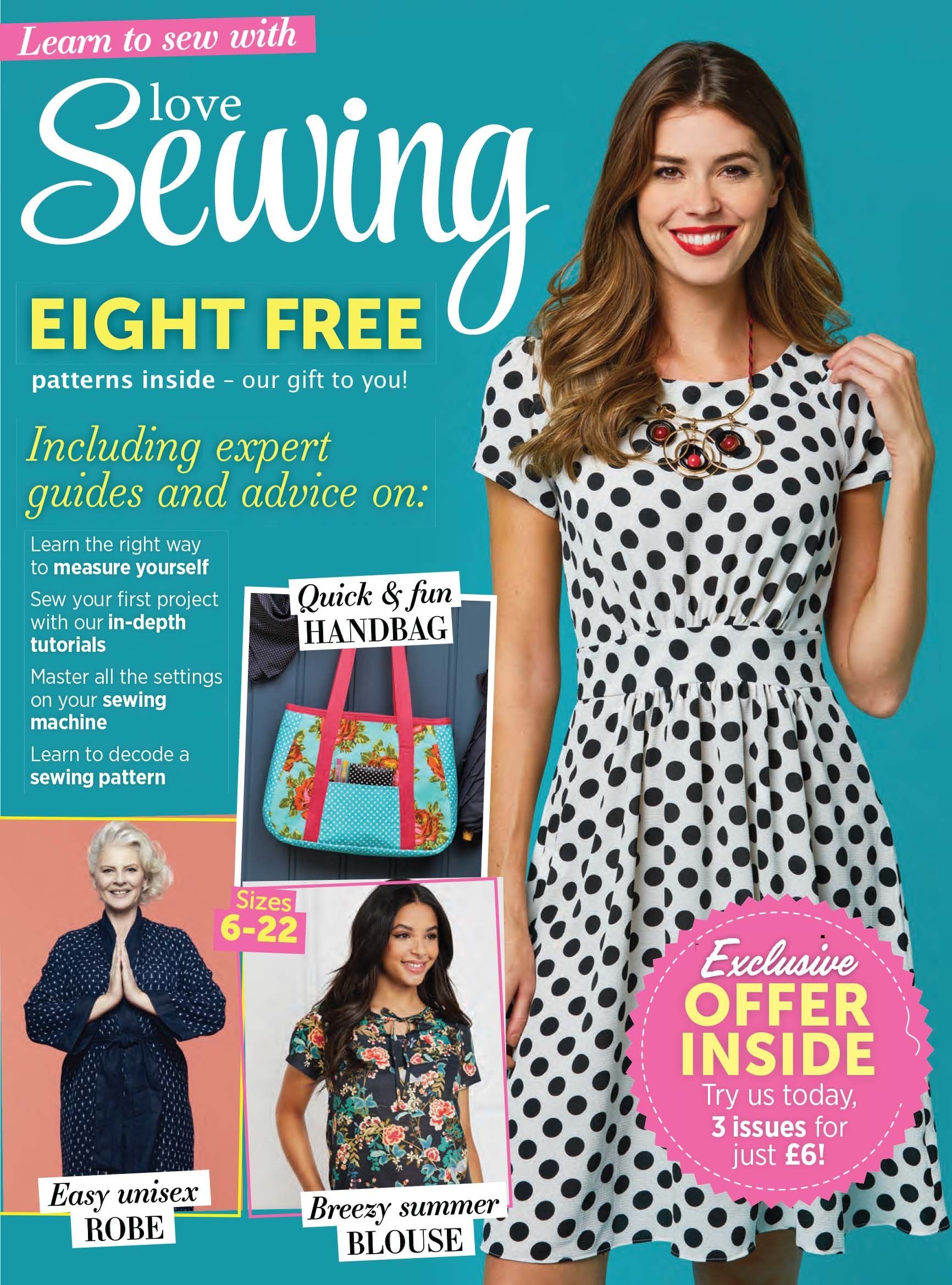 Beginner dressmaking guide with 8 free sewing pattern