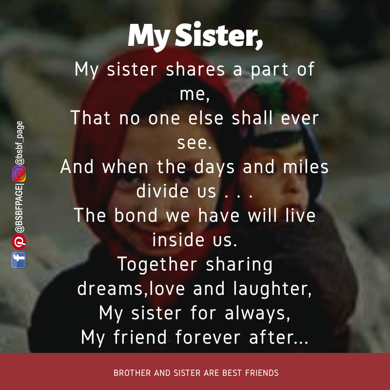 Prime My Sister Shares A Part Of Me With Images Brother Quotes Personalised Birthday Cards Bromeletsinfo