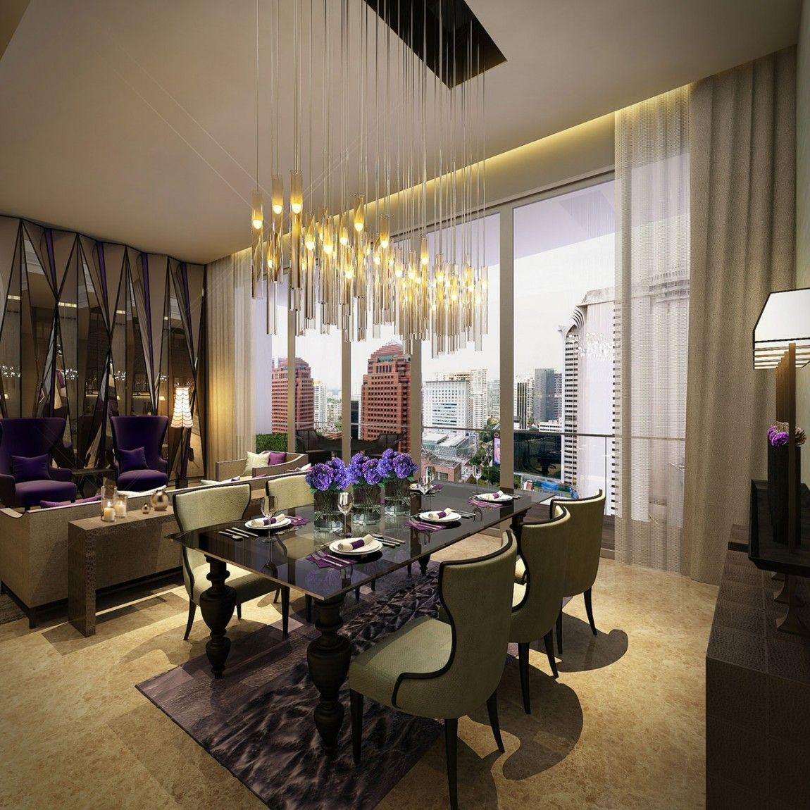 Opulent Show Flat In Grange Infinite Tower Singapore 35 Dining Room Light