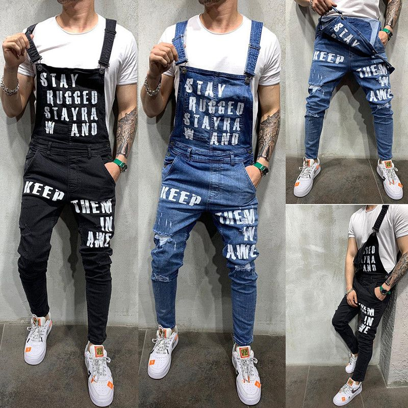 Cheap Pantalones Vaqueros Buy Directly From China Suppliers Pantalones Vaqueros De Marca 2019 Para Hombre Pantal Ripped Jeans Men Jumpsuit Men Suspenders Men