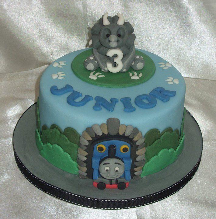 Dinosaur/Thomas the Tank Engine Birthday Cake