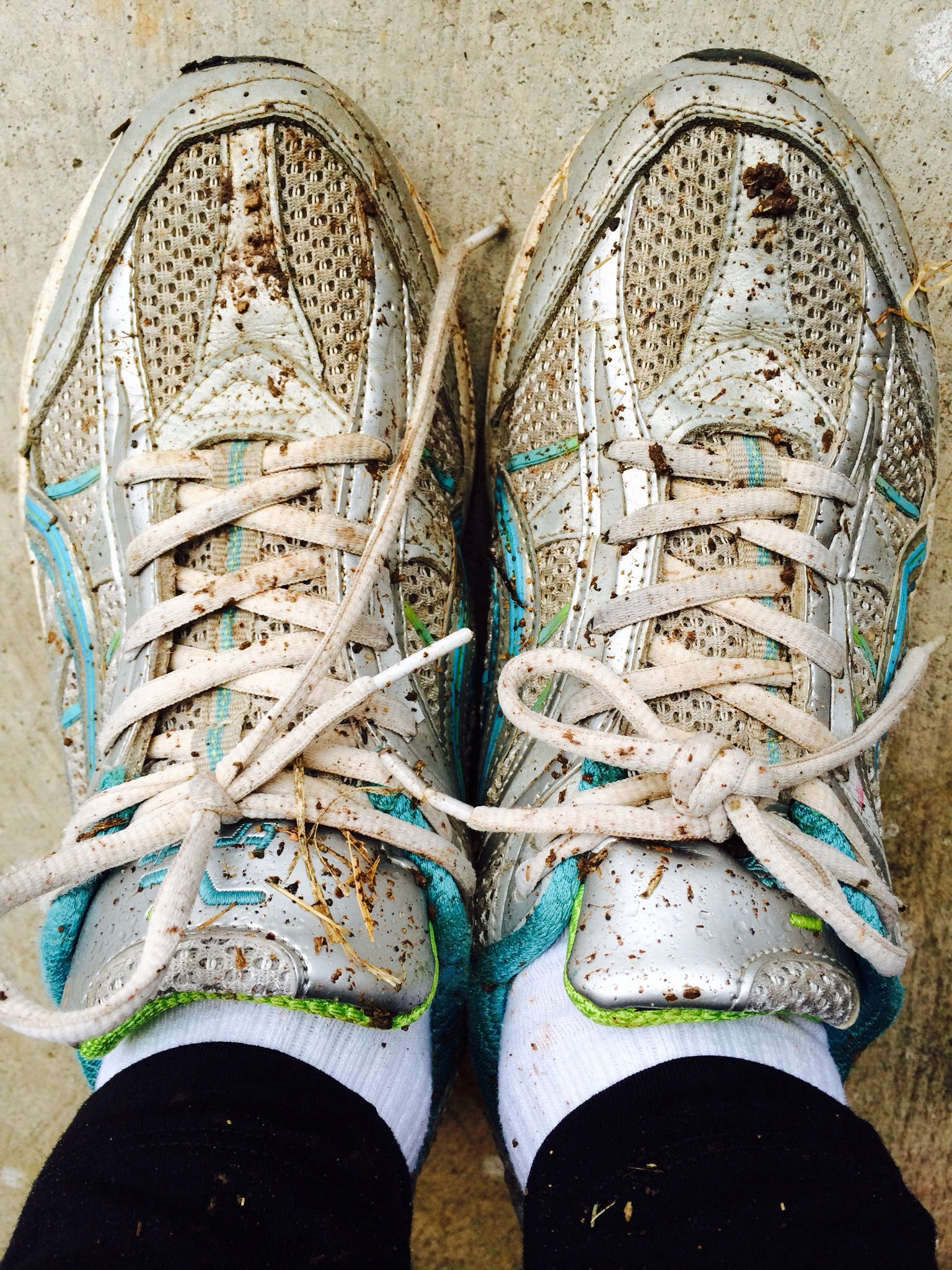 Get your sneakers muddy. get off your butt in 2019
