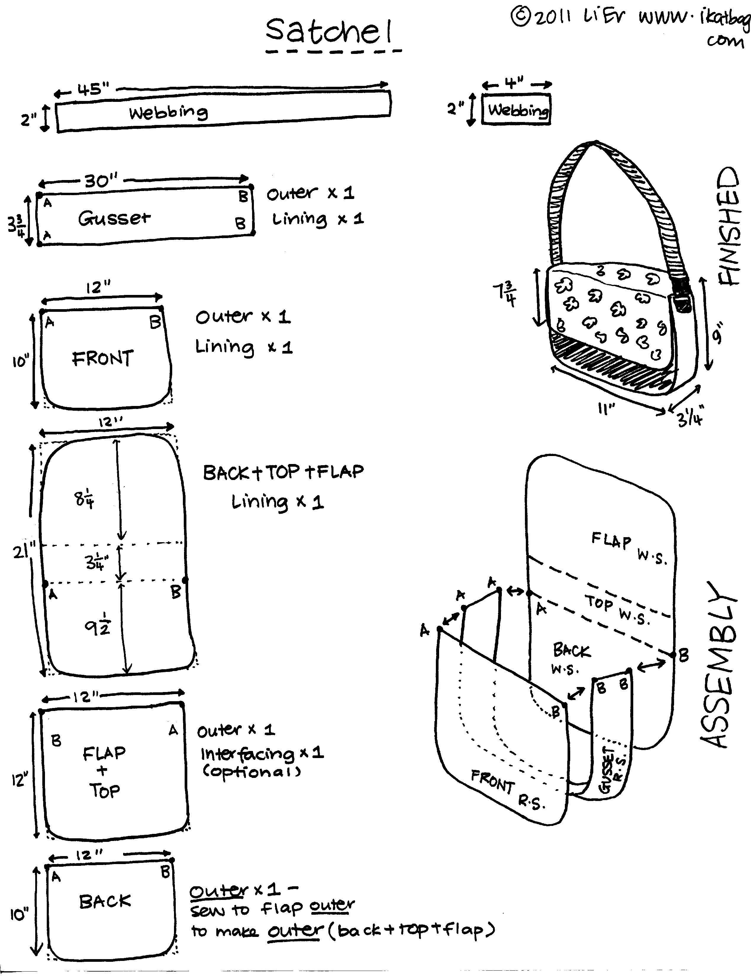 patrones bolso bandolera | Patrones | Pinterest | Bolsos cartera ...