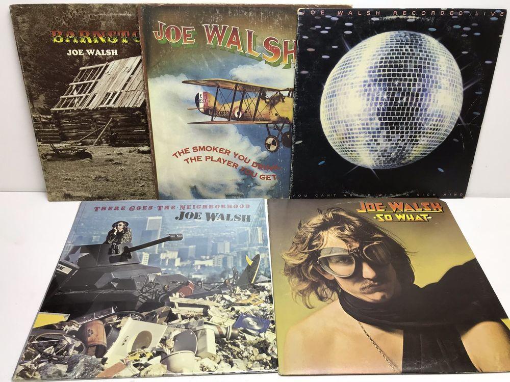 Joe Walsh LP, Vinyl Record, Album Lot: There Goes the Neighborhood +