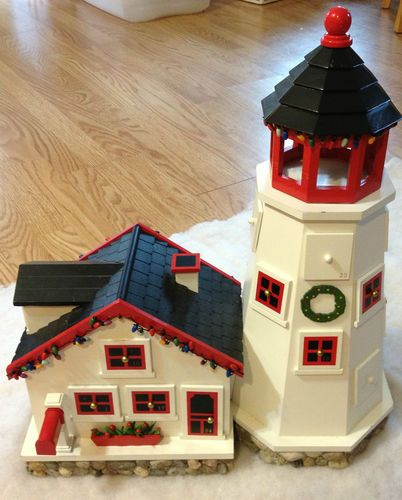 L L Bean Light House Advent Calendar With Wooden Drawers For Small Surprises Wooden Drawers House Wooden