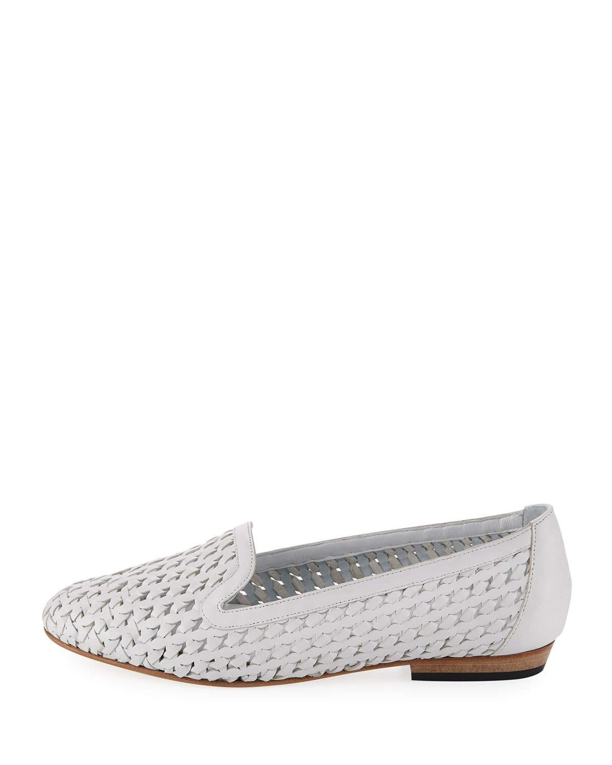 cbeafc96aedb6 Neya Woven Leather Loafer White | Products | Leather loafers ...