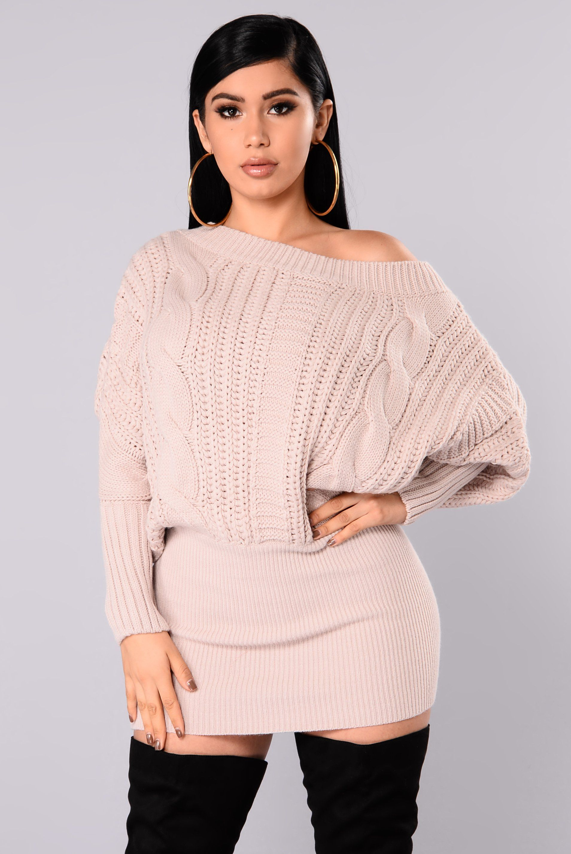 Millie Cable Knit Sweater - Mauve | Cable knit sweaters, Mauve and ...