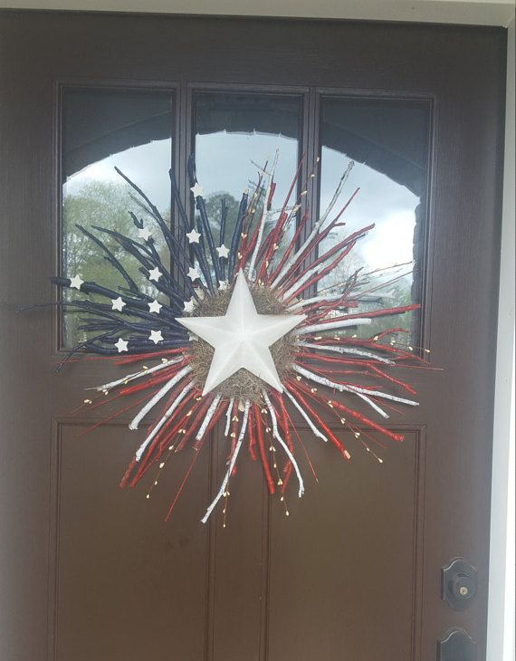 Summer wreath Woodland Wreath twig wreath American by AZWreaths #twigcrafts