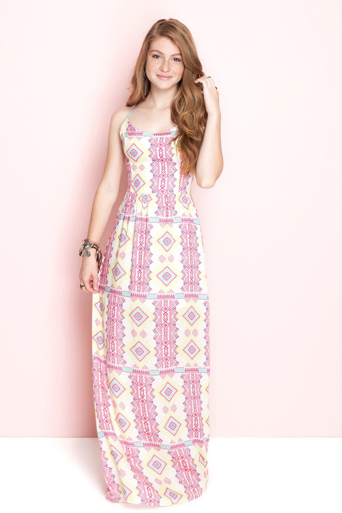 Vestido longo estampado summer