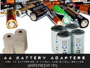 Geek Prepper Giving You The Edge When Shtf Battery Adapter Alkaline Battery Battery