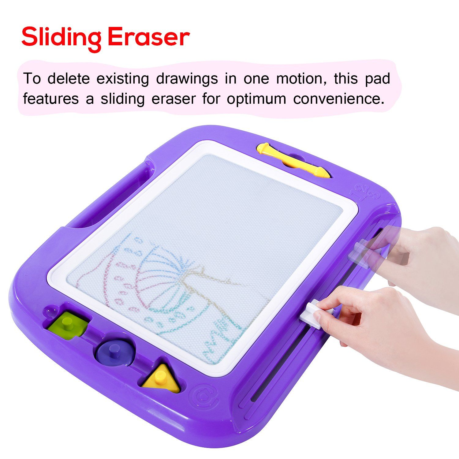Toys for kids 8 and up  SGILE X Kids Magna Drawing Board Toy with Foldable Stand